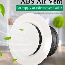 3/4/6 дюймов Пластик, устанавливаемое на вентиляционное отверстие в салоне автомобиля крышка под потолок для ванных комнат настенный приточно-вытяжная вентиляция решетка для круглых воздуховодных трубы 75/100/150 мм