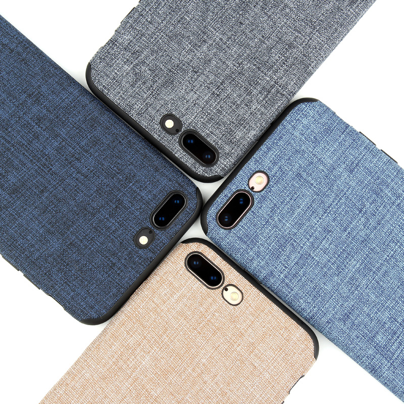 KEYSION Lanyard Case for iPhone X 8 8 Plus 7 6 6S 5 Fashion Linen Cloth and TPU Silicone soft Anti-knock Cover for iPhone 7 Plus