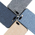 New Case for iPhone 7 7Plus Fashion Linen Cloth and TPU Silicone soft Anti-knock Cover for iPhone 7 iPhone 7 Plus Lanyard shell