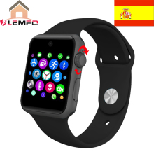 [ Spain Mall ] Lemfo LF07 bluetooth Smart Watch Sync Notifier support Sim Card sport smartwatch For apple iphone Android Phone