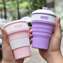 NEW Portable Silicone Retractable Folding Cup with Lid Outdoor Drinking Cup Travel Camping Water Cup Good Quality 2009 good quality syd 261 pensky martens closed cup flashpoint tester flash point 220v