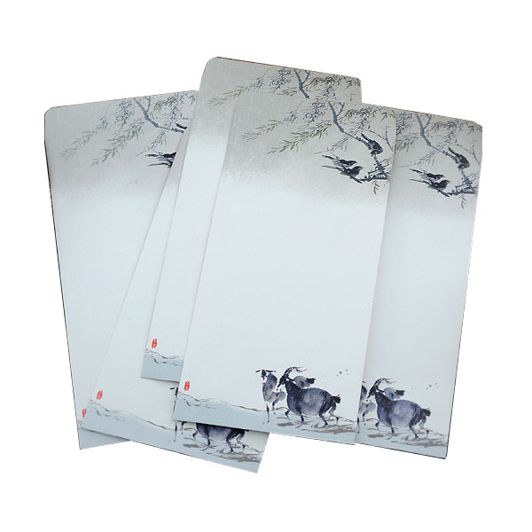 10 Pieces / Party Vintage Chinese Style Vintage Craft Paper Envelope 272 Qingming River