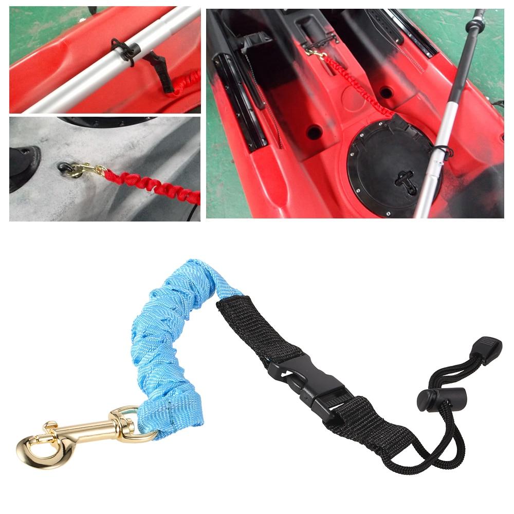 EY/_ Elastic Kayak Canoe Rowing Paddle Leash Cord Rope Safety Fishing Rod Lanyard