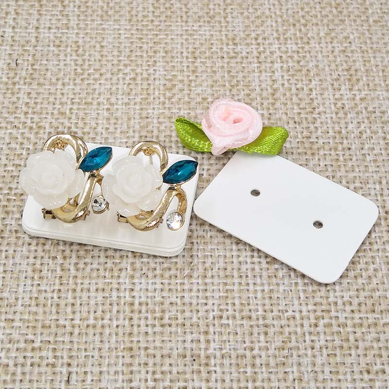 Pretty Pearl Paper Stud Earring Ng Card Small Jewelry Display Tag 100pcs Size 3 5 2 5cm Custom Cost Extra In Garment Tags From Home