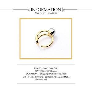 Image 4 - VAROLE moda podwójna linia Knotting Midi pierścienie dla kobiet złoty kolor srebrny 100% miedzi Anillos pierścień biżuteria Bagues Mujer Anel