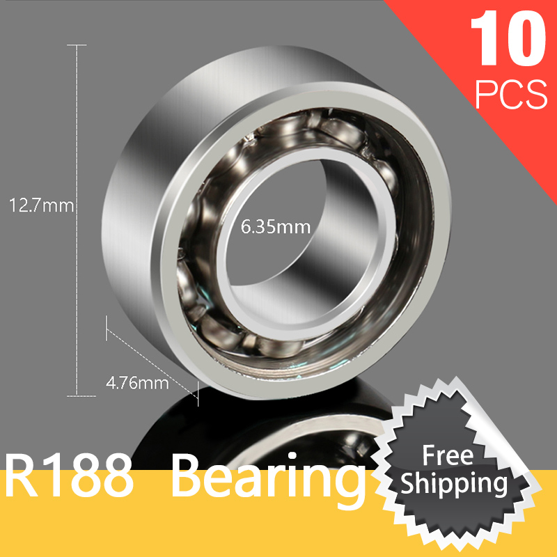 10pcs R188 Bearing For Fidget Spinner Hand Spinner High Speed Titanium Alloy Toys Kid Metal Finger Spinners batman version fidget spinner metal edc toys tri hand spinner for autism and adhd 606 mixed ceramic bearing for fun assembly