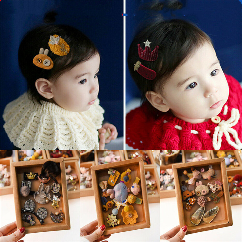 Mixed Cartoon Styles Baby Kids Girls HairPin Hair Clips Cute headwear Jewelry
