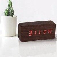 Большой Led Будильник, Saat Despertador TEMP + дата + время электронные цифровой Настольный Часы Современный домашний декор