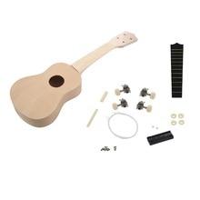 Шьет 21 дюймов DIY Деревянные Гавайские гитары укулеле Сопрано Гавайская гитара Uke комплект музыкальный инструмент DIY