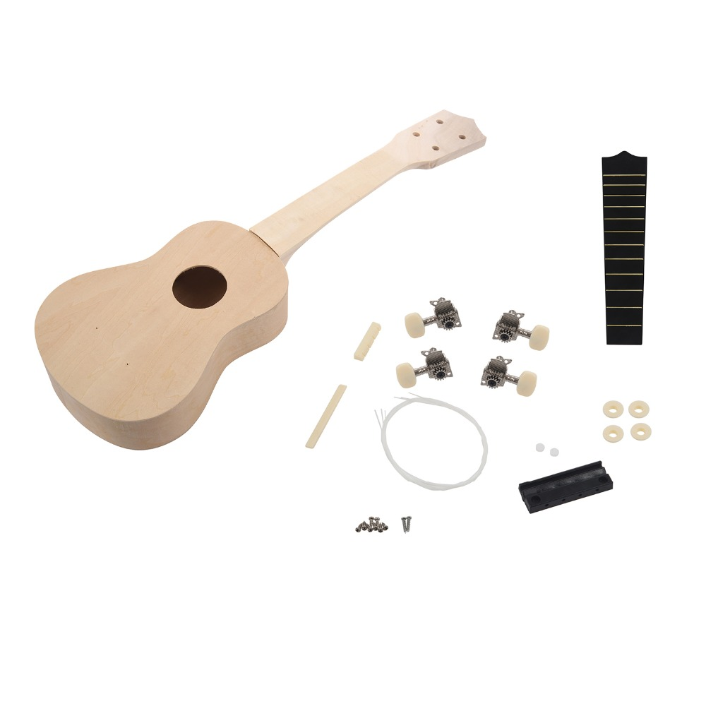SEWS 21inch DIY Wooden Ukulele Soprano Hawaiian Guitar Uke Kit Musical Instrument DIY