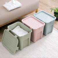 Plastic clothes storage box thickened clothes toy finishing with cover storage bins home organization and storage mx01051626