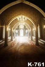 Luxurious Castle Palace Photo Picture Photographic Couples Wedding Backdrops 1.5x2m Dark Photo Studio Backgrounds Muslin Cloth