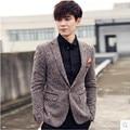 Homens Terno Formal do Negócio Homens Moda Blazer Jaqueta Plus Size M-3XL de Design Da Marca Slim Fit Suit Blazer Masculino Terno Ocasional jaqueta
