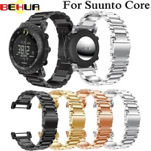 цена на Watch Band Stainless Steel Strap For Suunto Bracelet Wristband Adjustable Replacement For Suunto Core 175cm Watch Accessories