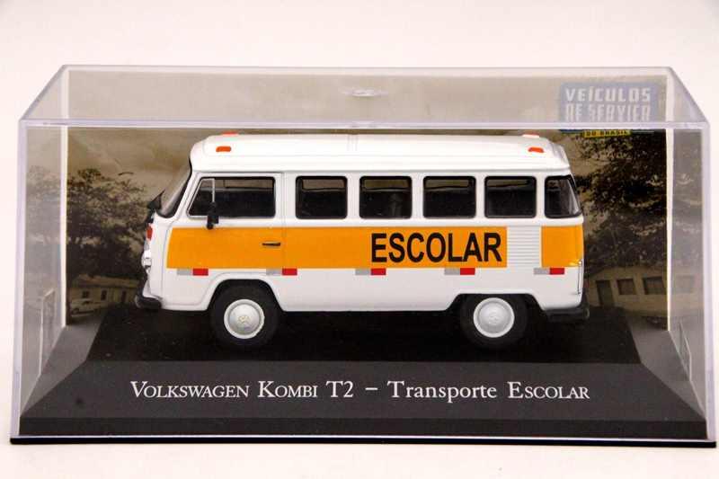 IXO Altaya 1:43 Escala V ~ W Kombi T2 Transporte Escolar Modelos Diecast Carro de Edição Limitada Coleção de Brinquedos