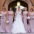 Custom Made Vestido Da Dama Lilás Apliques Querida Longo Da Dama de honra Vestidos Para Casamento Vestido De Festa