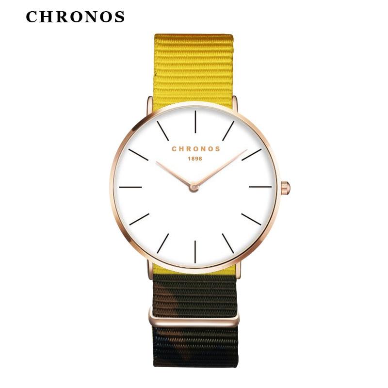 Luxury Brand New Style Watch Female Clock Relojes Mujer Montre Femme Nylon Band Fashion Women Men Watch Clock Relojes Hombre  analog watch