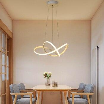 Simple moderno colgante led luz habitación lámparas ...