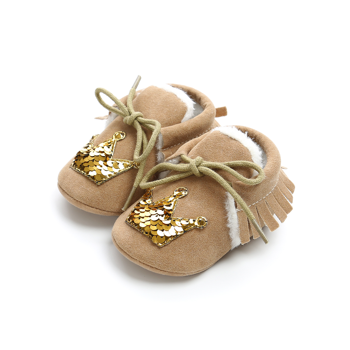 Infant Newborn Baby Girl Brib Shoes Bow Printing Soft Sole Anti-Slip Princess Shoes