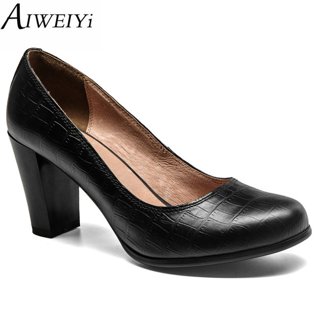 Fashion Womens Round Toe Pumps High heels Dress Faux Patent Leather Casual Shoes