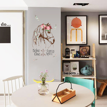 horse wall sticker boho chic home decor animals gypsy spirit wall decal