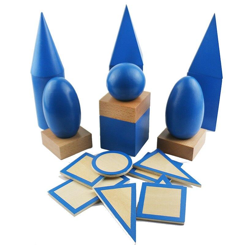 Montessori matériaux sensoriels solides géométriques avec des Bases jouets éducatifs préscolaires d'apprentissage pour les enfants Juguetes E2964H