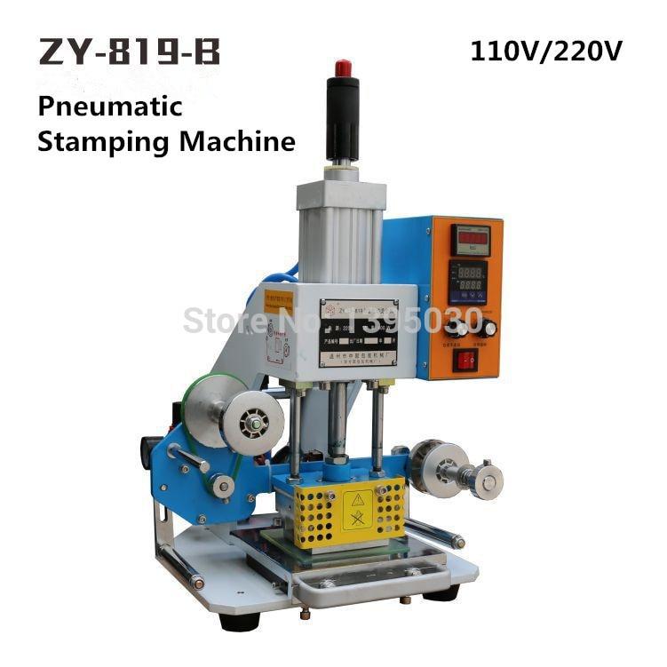ZY 819 B Pneumatic Stamping Machine leather LOGO Creasing machine,code printer, name card Embossing machine