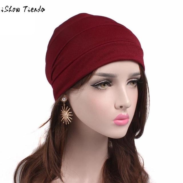 2c8769f12a5 Autumn Hat Women Cancer Chemo Hat Beanie Scarf Turban Head Wrap Cap Muslim  Stretch Indian Turban Hats 6 Color Beanie Hat Bonnet
