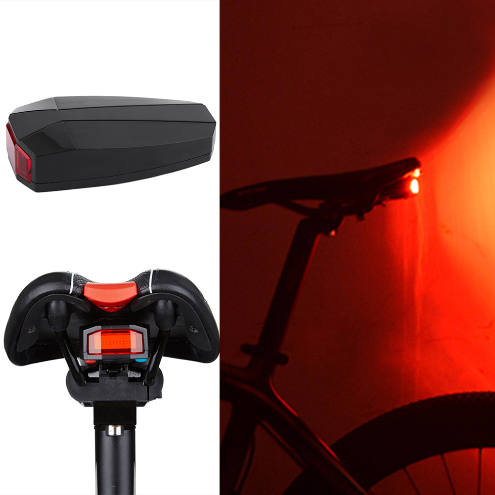 For Cycling Bicycle 3 in 1 Bike Turn Signal Brake Tail 7 LED Light Electric Q7Y5