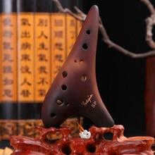 12 Holes Ocarina Smoldering Alto C key Flute Handmade Ceramic Musical Instrument Zelda Flauta