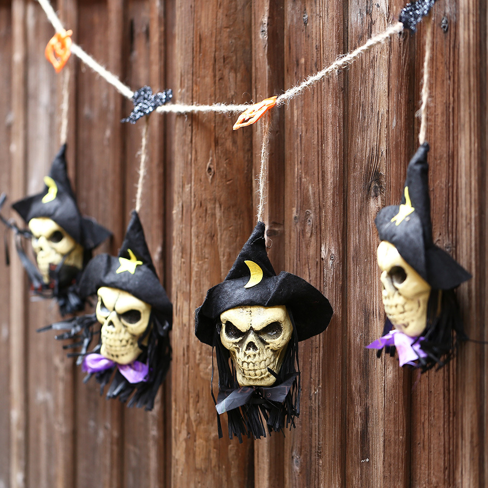 halloween horror props haunted house bar decoration supplies ktv string arrangement skull halloween decorations small ornaments