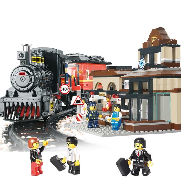 Modèles de construction jouet 0236 ville gare Explorer 821 pcs Blocs De Construction compatibles avec lego city jouets & loisirs
