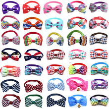 Wholesale 100pcs Pet Dog Cat Bowties Collar Bows Puppy Ties Bow Tie Neckties Samll -dog Grooming Supplies