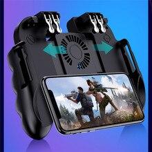 PUBG Mobile Controller Gamepad Cooler Cooling พัดลมสำหรับ iOS Android Samsung Galaxy L2R2 จอยสติ๊กไม่มีแบตเตอรี่ปลั๊กและเล่น
