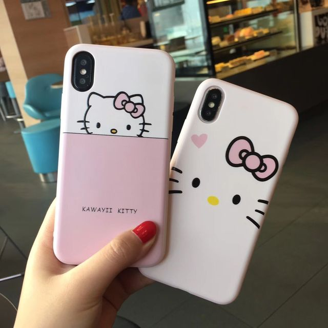low priced bac80 60cea US $3.04 39% OFF|For iPhone X hello kitty case Sailor Moon phone Cases For  iphone 10 Sakura Momoko Relief emboss Soft back cover girl pink fundas-in  ...