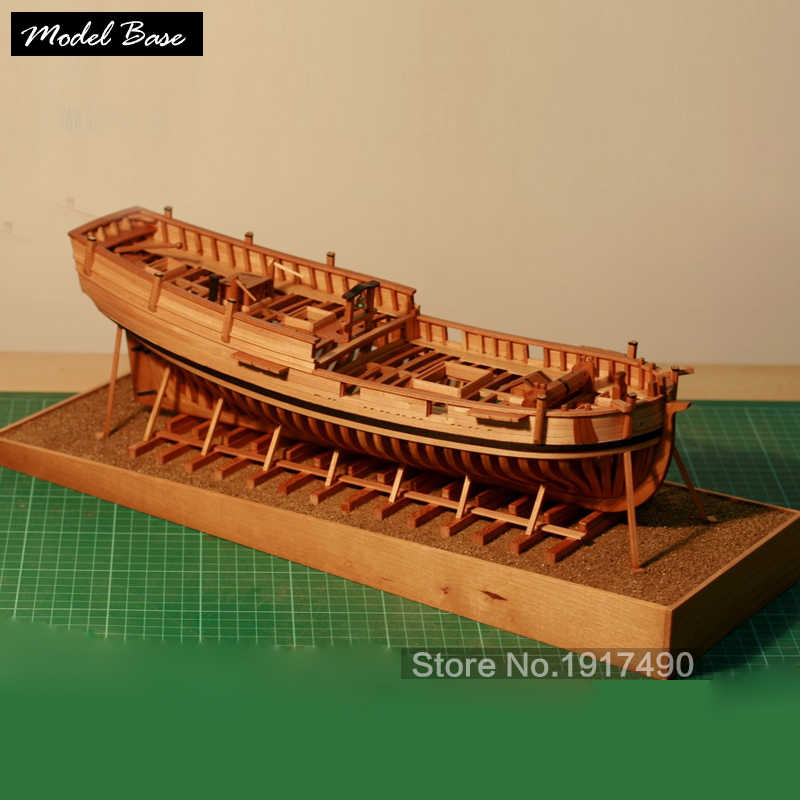 Wooden Ship Models Kits DIY Model Wood 3d Laser Cut Scale 1/48 First Washington Navy Ship HANNAH Full Model-Based Suite Of Ribs