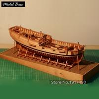 Деревянный корабль модели наборы DIY Модель Дерево 3d лазер масштаб 1/48 первый Вашингтон темно синий корабль Ханна полная модель на основе наб