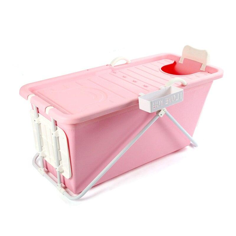 Rallongent Pliage Portable Isolé Baignoire pour Adultes Gonflable De Bain jambe Droite Baignoire de qualité Alimentaire non-toxique matériau Souple