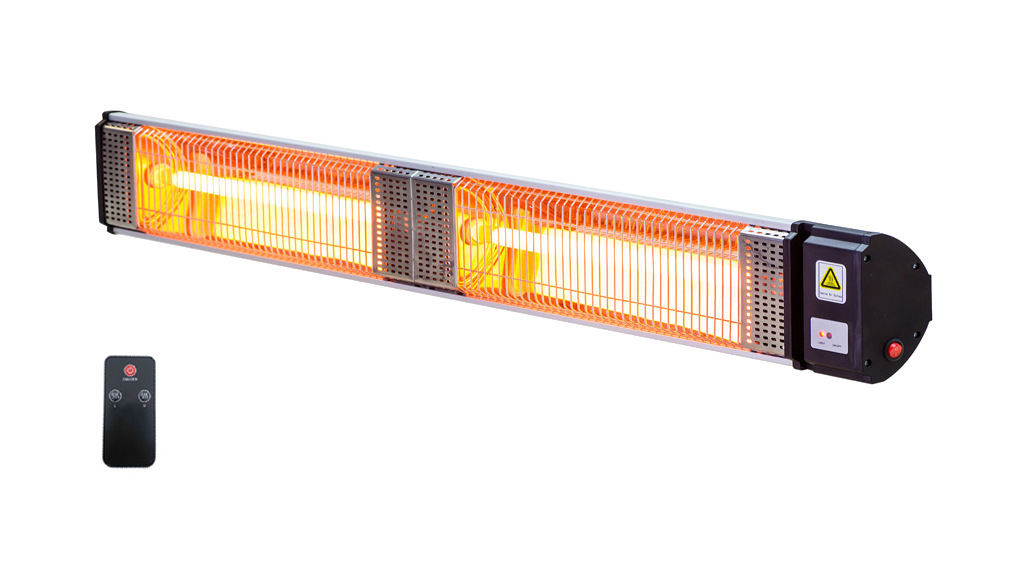 2000W Commercial Alfresco Strip Patio Heater Radiant Infrared Power Electric Outdoor
