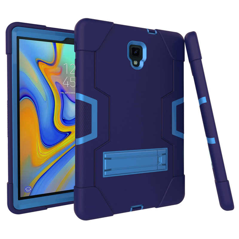 Kids Shockproof Hybrid Silicone Case untuk Samsung Galaxy Tab 10.5 T590 T595 T597 Pelindung Cover Tab 10.5 Inci case + Film + Pen