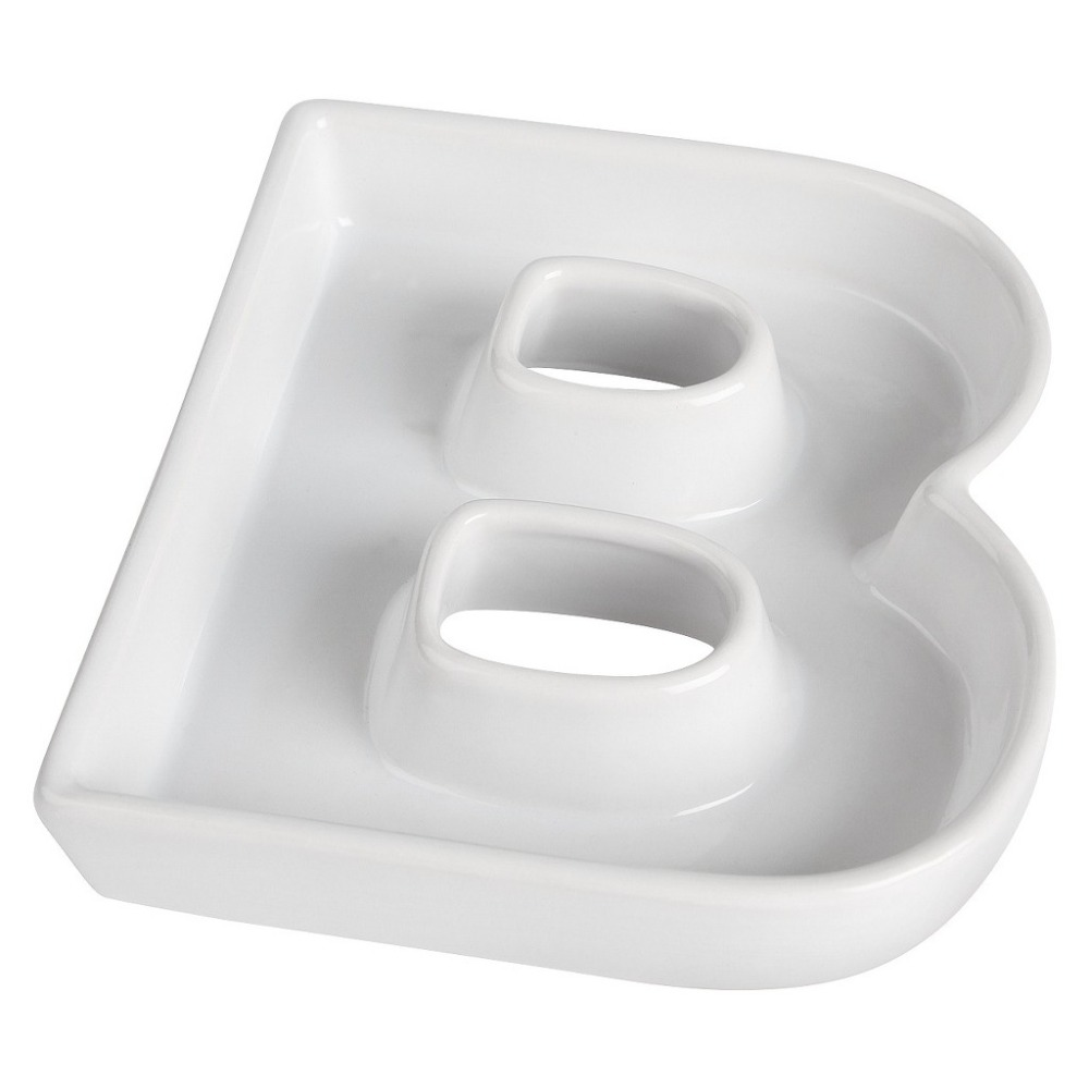 b shape ceramic letter dishes plates for candy ideas party dish dinner platechina