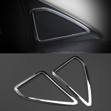 цена на For Ford Escape Kuga 2013 2014 2015 2016 2017 2018 Accessories ABS Chrome A-Pillar Door Stereo Speaker Cover Trim Car Styling