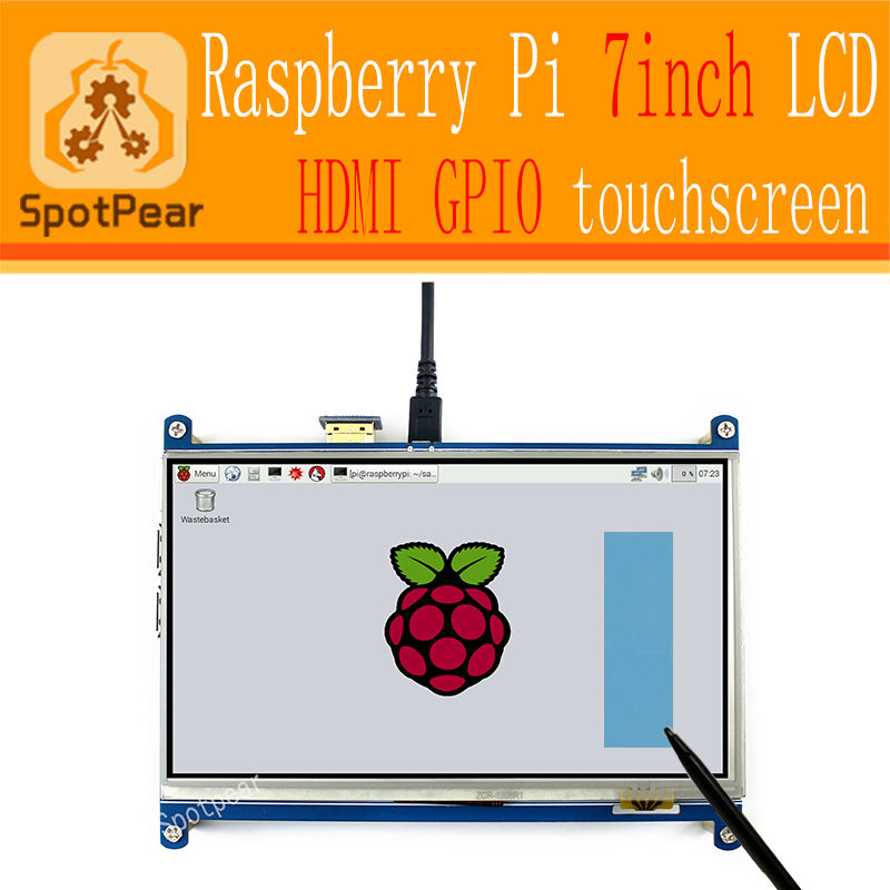 7 Inch HDMI TFT LCD Touch Screen for Raspberry PI 3 Pi4 2 Model B Raspberry
