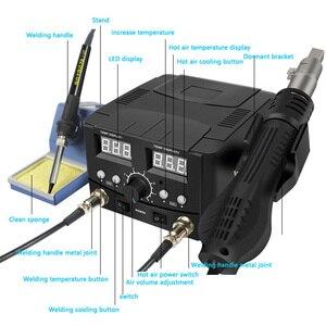 Image 3 - 800ワット2で1デジタルesdホットエアーガンはんだステーション溶接はんだ鉄220v smdはんだリワークステーション8586アップグレード