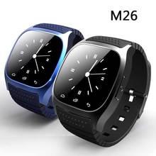 Bluetooth Smartwatch M26 Handgelenk Montre Connecter Android Uhr Mit Alitmeter Schrittzähler Wasserdicht Tragbare Geräte Intelligente