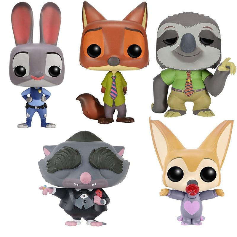 Funko POP Zootopia JUDY HOPPS, NICK WILDE, ELE-FINNICK, FLASH PVC Action Figure Collectible Model Toys For Chlidren Gift