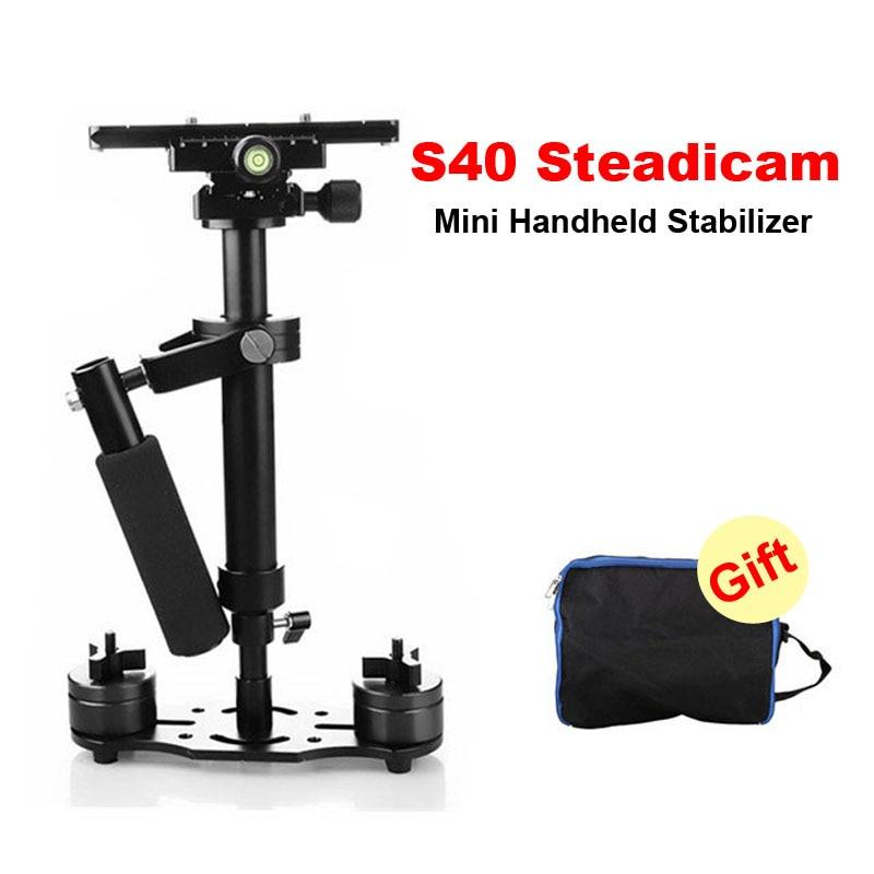 DHL S40 40 cm estabilizador de mano profesional Steadicam para videocámara Digital Canon Nikon Sony DSLR Mini Steadycam