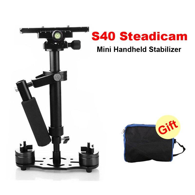 S40 Steadicam 40 cm Mini stabilisateur vidéo appareil photo portable possycam Pro pour caméscope appareil photo numérique vidéo Canon Nikon Sony DSLR