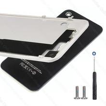 Nueva caja de puerta de la contraportada de la batería cubierta de cristal trasera para iphone 4 4g 4s original libre de herramientas tornillos replacament