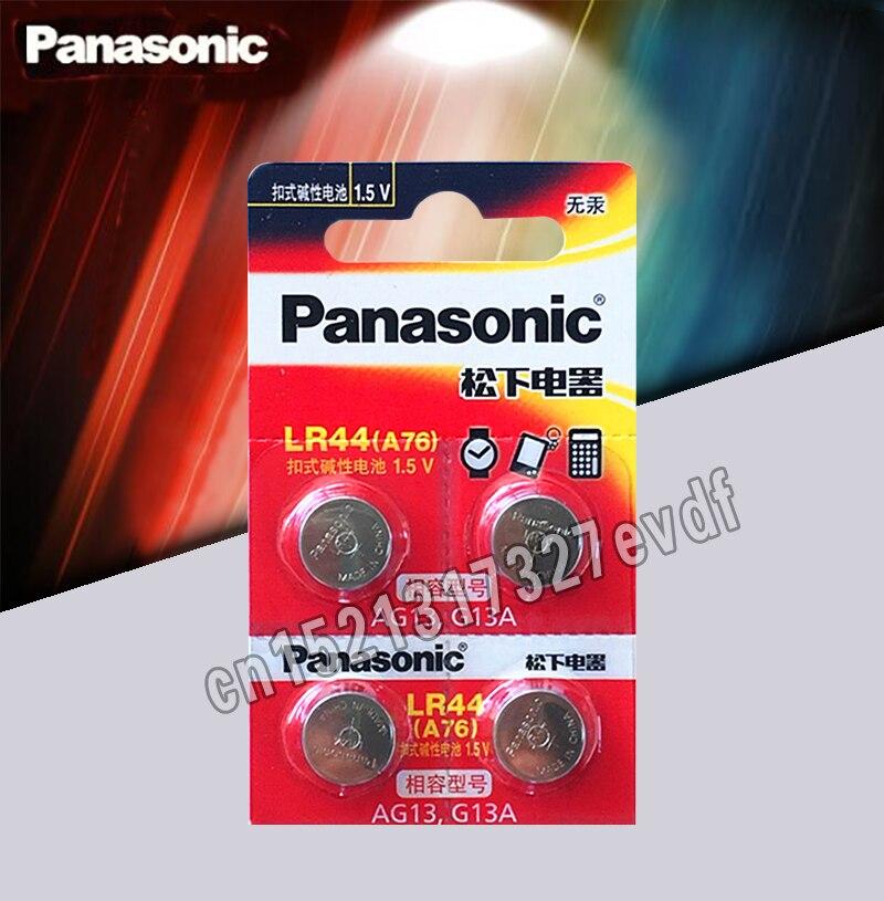 Tüketici Elektroniği'ten Düğme Piller'de Panasonic 4 adet 1.5V Düğme Pil lr44 Lityum Madeni Para Piller A76 AG13 G13A LR44 LR1154 357A SR44 100% orijinal